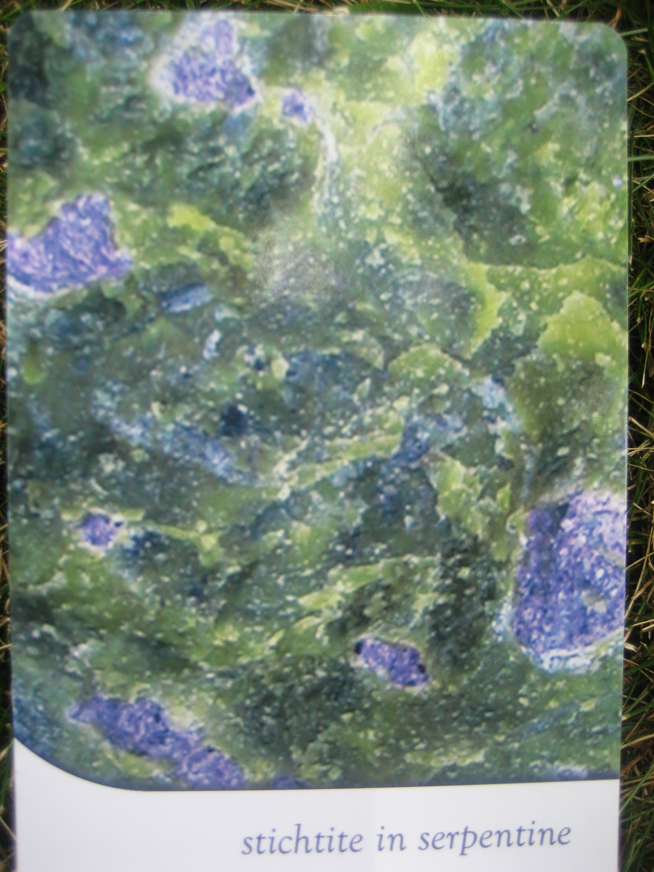 Crystal of the Week – Stichtite in Serpentine
